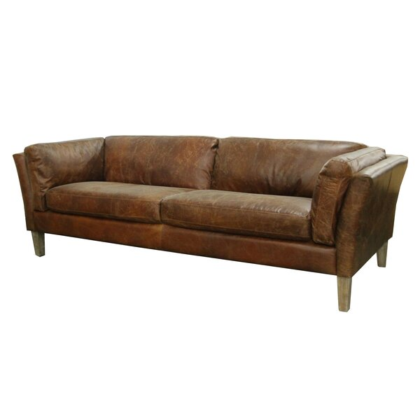 Shop Priceless For The Latest Carlsen Leather Sofa by Foundry Select by Foundry Select