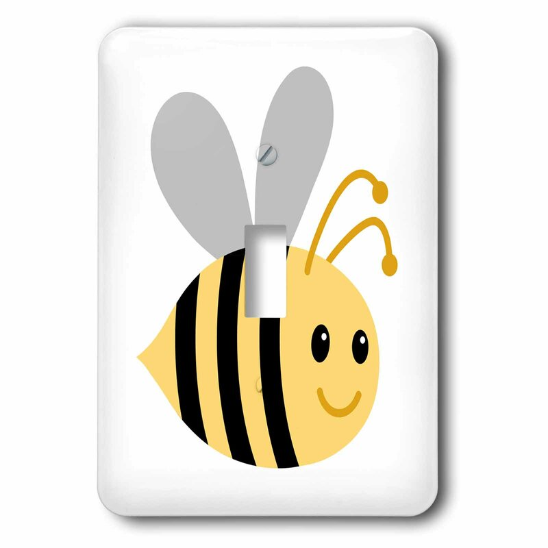 Baby Bumblebee Design Decorative Single Toggle Light Switch Cover Wall Plate