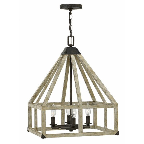 Allamanda 4 - Light Lantern Geometric Chandelier By Gracie Oaks