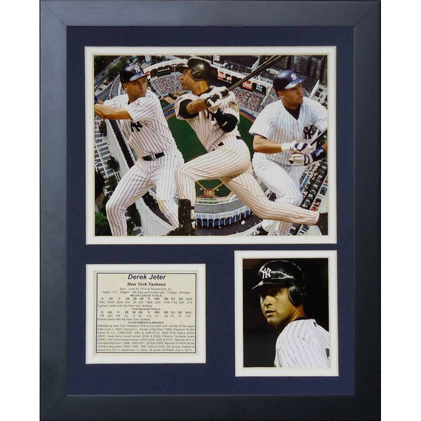 Derek Jeter Framed Photographic Print by Legends Never Die