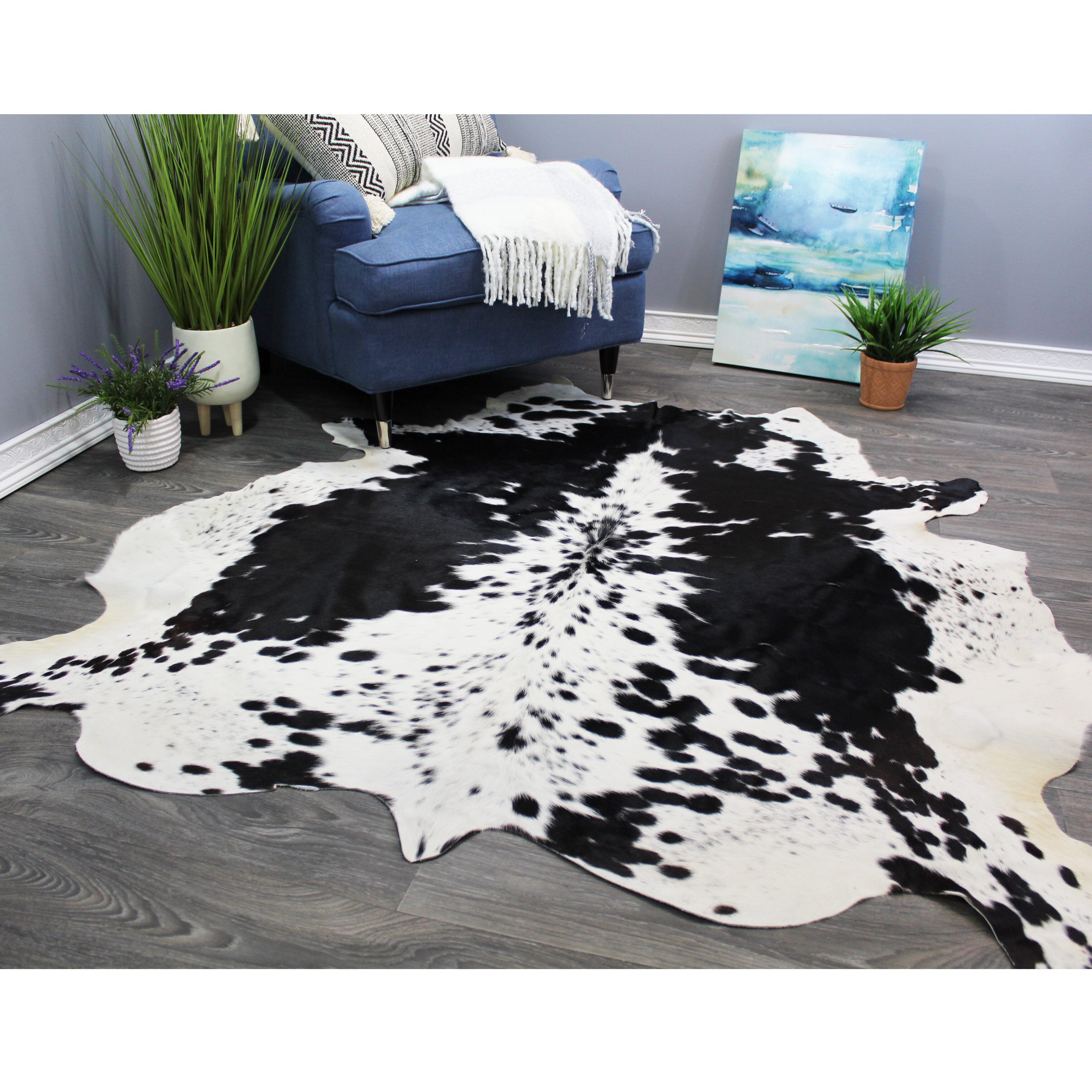 Wunder Cowhide Black White Area Rug