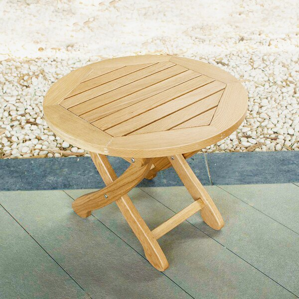 Rumfelt Folding Solid Wood Side Table by Millwood Pines
