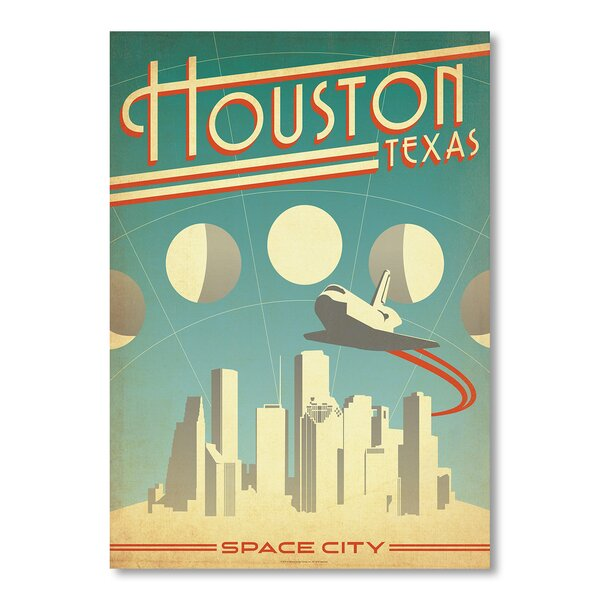 Houston Space City Vintage Advertisement by East Urban Home