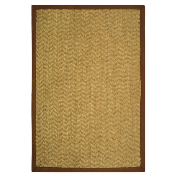 Greene Hand-Woven Natural / Light brown Area Rug by Beachcrest Home