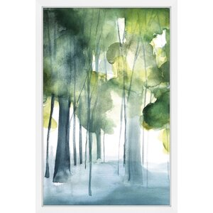 'Green Grove' by Christine Lindstrom Framed Painting Print by Marmont Hill