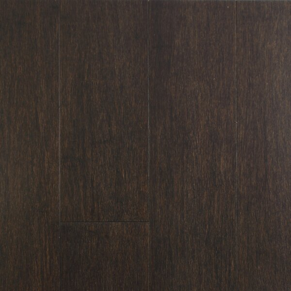 4-1/2  Solid-Lock Strandwoven Bamboo Flooring in Charcoal by ECOfusion Flooring