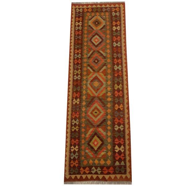 Kilim Hand-Woven Gray/Rust Area Rug by Herat Oriental