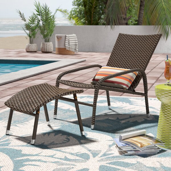 Harmony Lounge Chair with Ottoman by Mistana