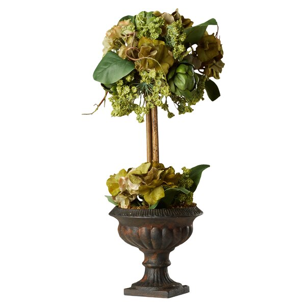 Artichoke Flower Arrangement Topiary in Urn by August Grove