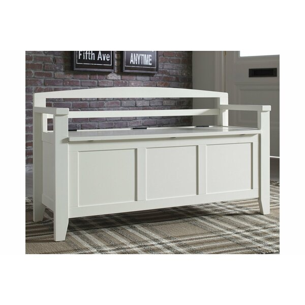 Colter Wood Storage Bench by Charlton Home