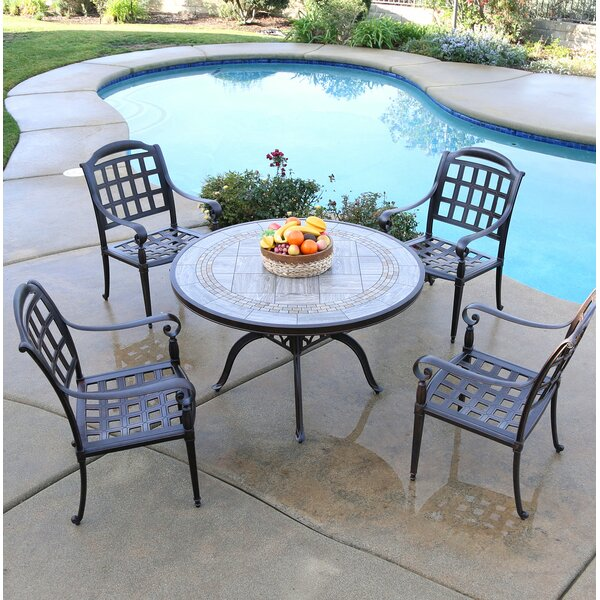 Falzone 5 Piece Dining Set by August Grove August Grove