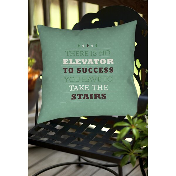 Take the Stairs Indoor/Outdoor Throw Pillow by Manual Woodworkers & Weavers