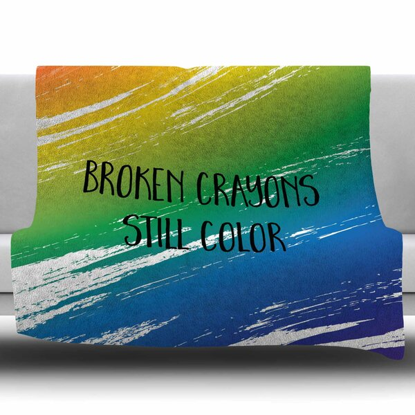 Broken Crayons by NL designs Fleece Blanket by East Urban Home