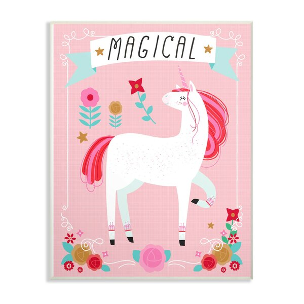 Venus Magical Colorful Unicorn Decorative Plaque by Harriet Bee