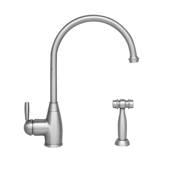 Queenhaus Single Handle Kitchen Faucet with Side Spray