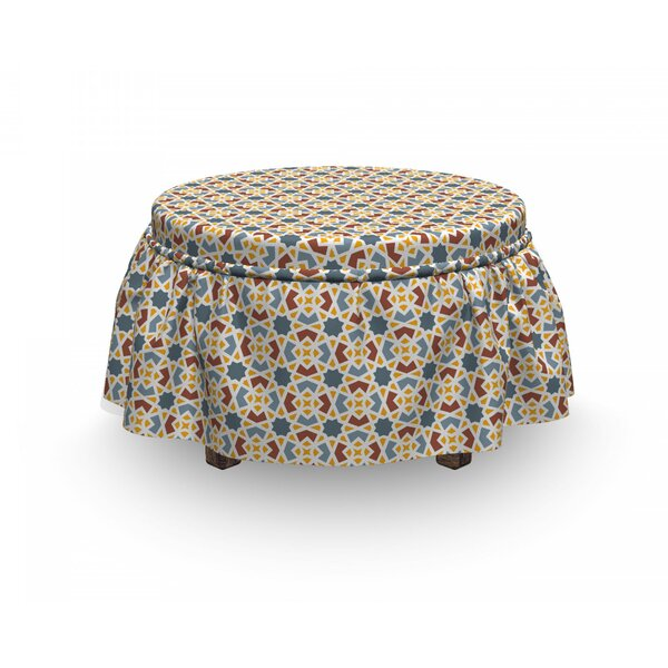 Middle Eastern Symbollism Ottoman Slipcover (Set Of 2) By East Urban Home