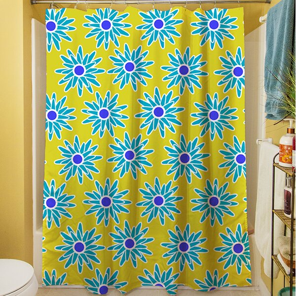 La Roque Summer Starburst Shower Curtain by Manual Woodworkers & Weavers