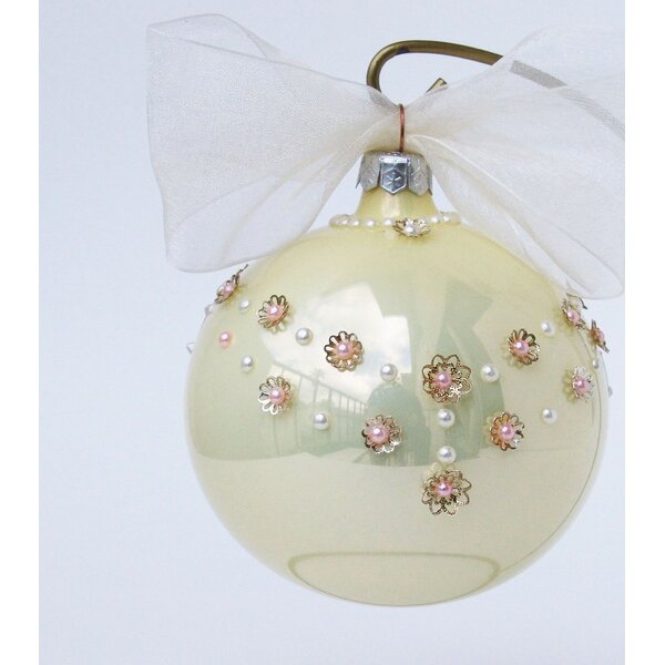 Rose Pearl Necklace Ornament by Eva Design