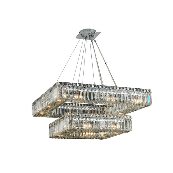 Riesel 20-Light Unique / Statement Tiered Chandelier by Everly Quinn Everly Quinn