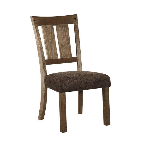 Etolin Upholstered Slat Back Side Chair In Light Honey (Set Of 2) By Loon Peak