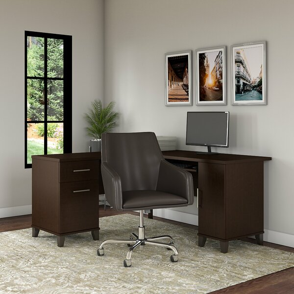 Kirchoff Reversible L-Shaped Desk and Chair Set