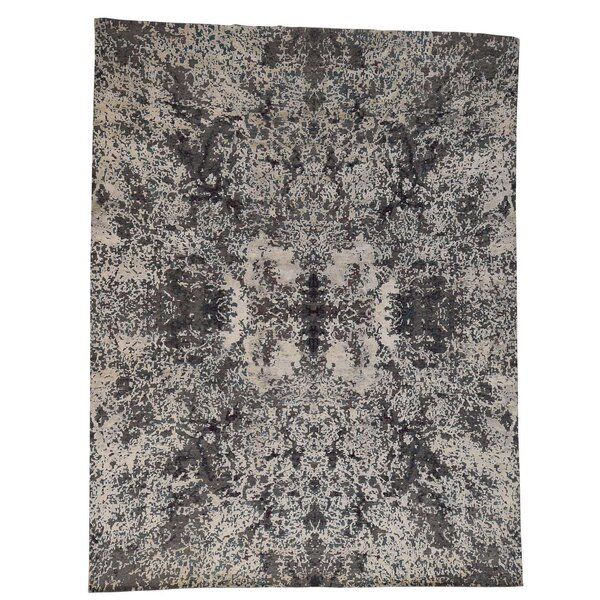 One-of-a-Kind Eddyville Hand-Knotted Gray Area Rug by 17 Stories