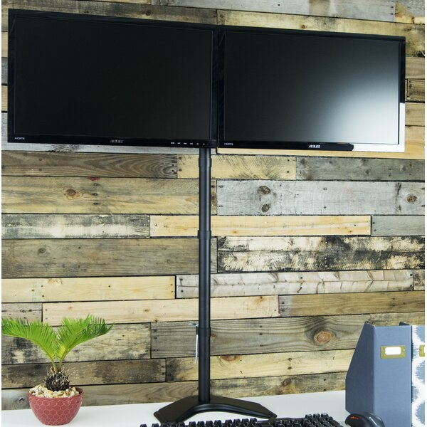 Dual Height Adjustable Free Standing Monitor Mount by Vivo