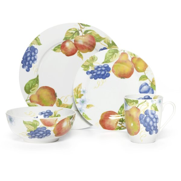 Orchard 16 Piece Dinnerware Set, Service for 4 by Pfaltzgraff Everyday