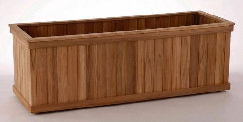 Hudson Teak Wood Planter Box by Bayou Breeze