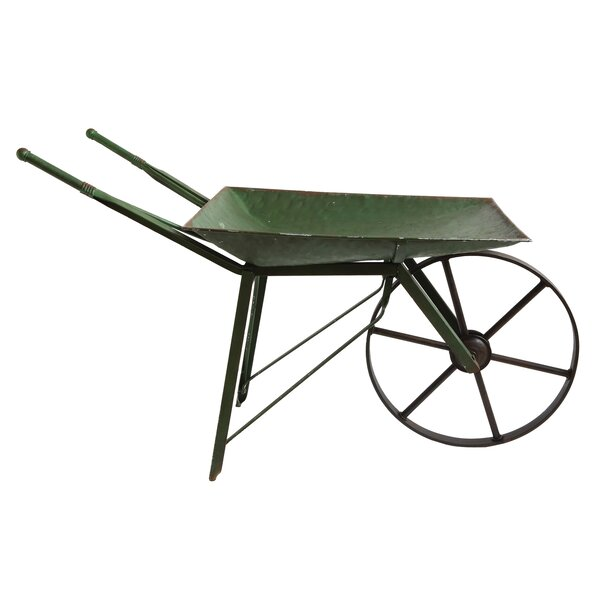 Winnett Iron Wheelbarrow Planter by Laurel Foundry Modern Farmhouse
