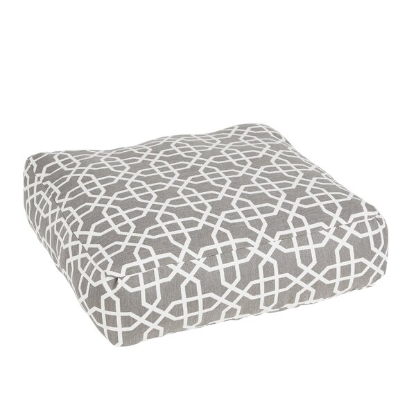 Malcom Bevel Smoke Square Indoor/Outdoor Floor Pillow by Darby Home Co