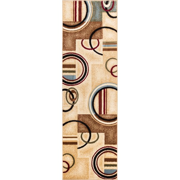 Barclay Ivory/Natural Arcs and Shapes Modern Area Rug by Well Woven