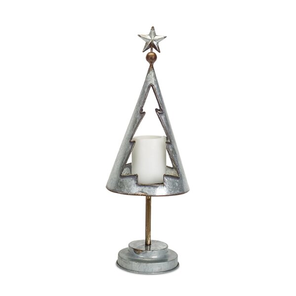 Tree Cut-Out Metal Votive Holder by The Holiday Aisle