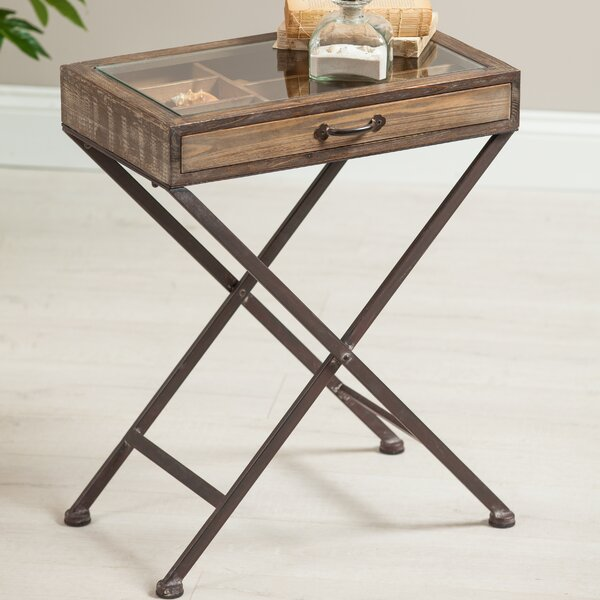 Circe Wood End Table by Millwood Pines