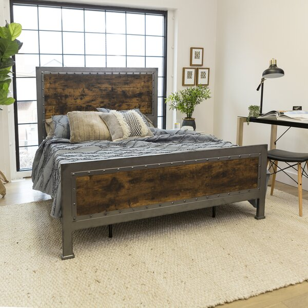 New Design Berta Industrial Queen Standard Bed By Laurel Foundry Modern Farmhouse Coupon
