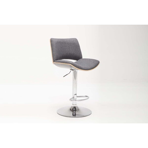Berwyn Adjustable Height Swivel Bar Stool by Orren Ellis
