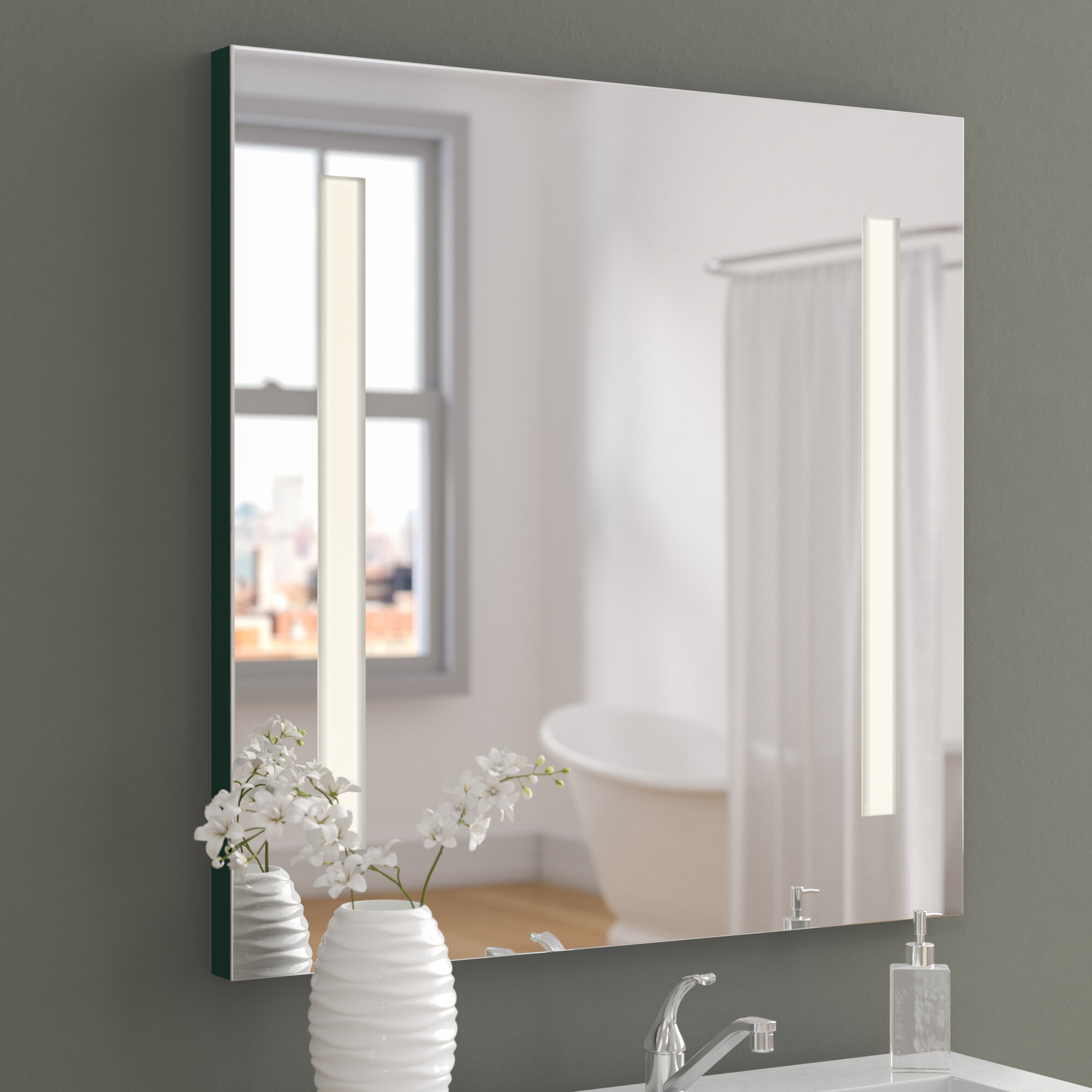 Wade Logan Argos 2 Light Vanity Wall Mirror & Reviews | Wayfair