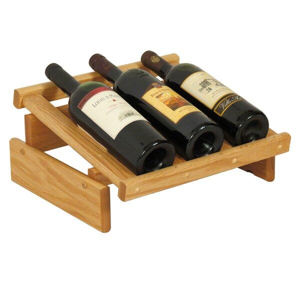 Dakota 3 Bottle Tabletop Wine Rack by Wooden Mallet
