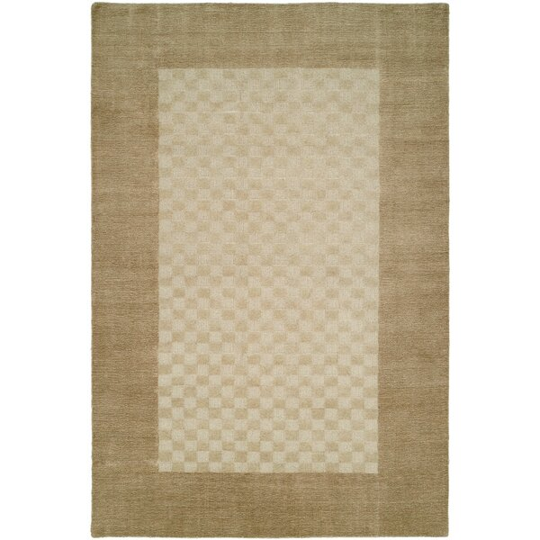 Bhakta Hand-Woven Beige Area Rug by Meridian Rugmakers