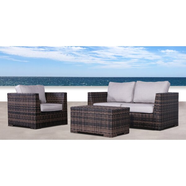 Letona Resort 3 Piece Sofa Seating Group with Cushions by Sol 72 Outdoor