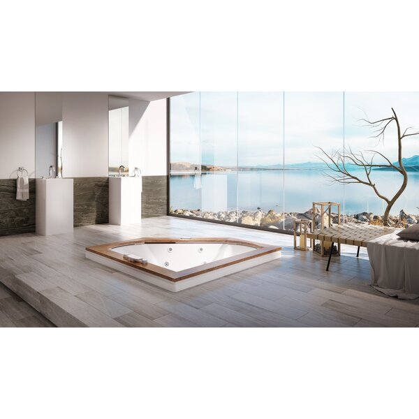 Fuzion Chroma Right-Hand 66 x 66 Drop-In Salon Bathtub by Jacuzzi®