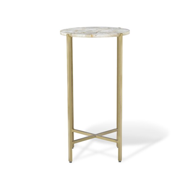 Leonie Agate Round End Table by Interlude