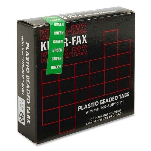 Hanging File Folder Tabs, 2, 1/5 Cut, 25/PK, Green by Kleer-Fax, Inc.