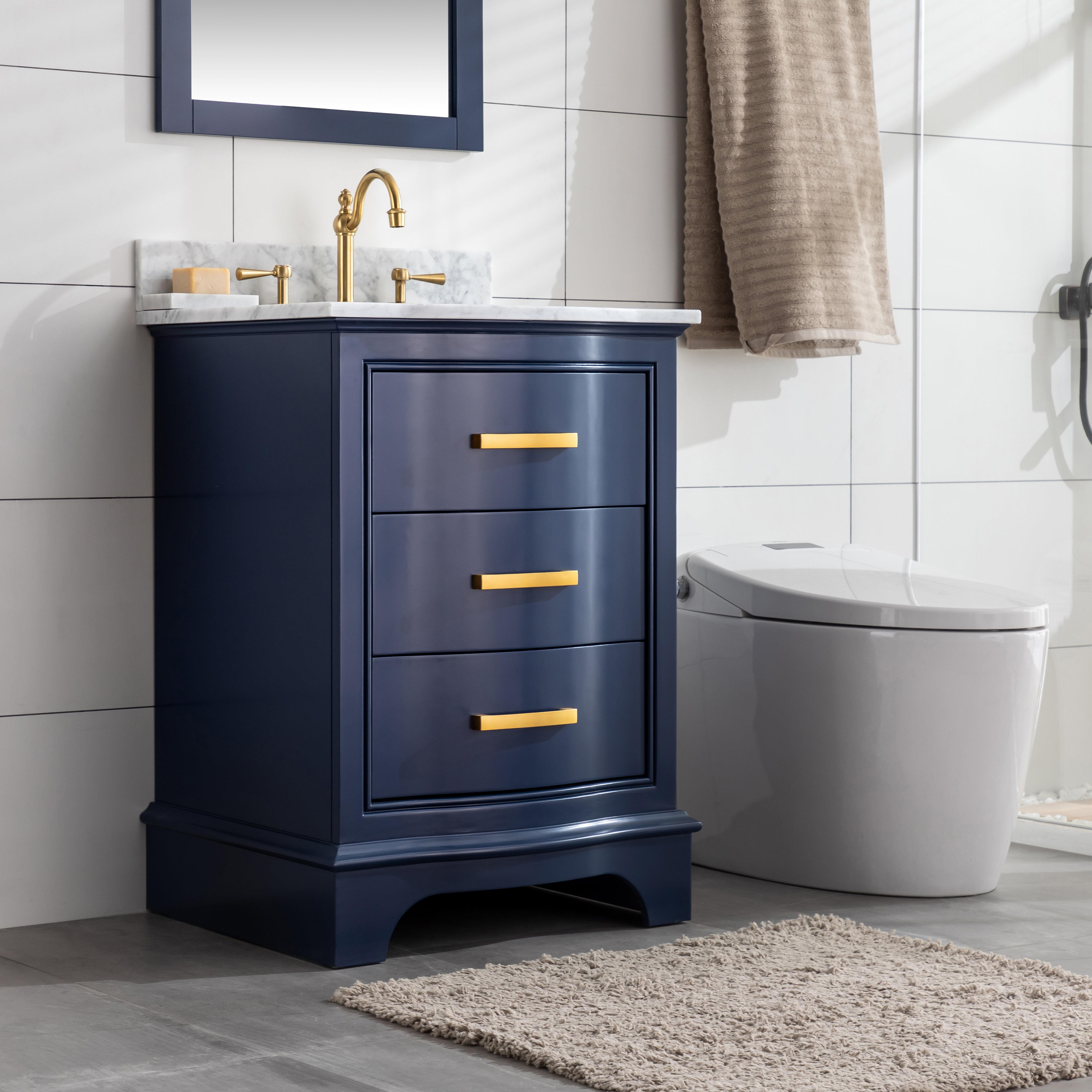 Andover Mills Goleta 24 Single Bathroom Vanity Set Reviews Wayfair