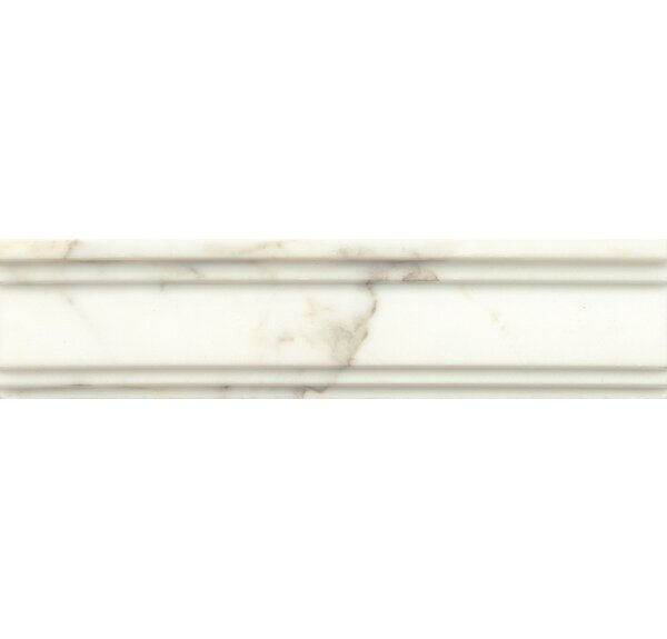 Honed Marble  12 x 3 Crown Molding Tile in Calacatta Oro by Grayson Martin