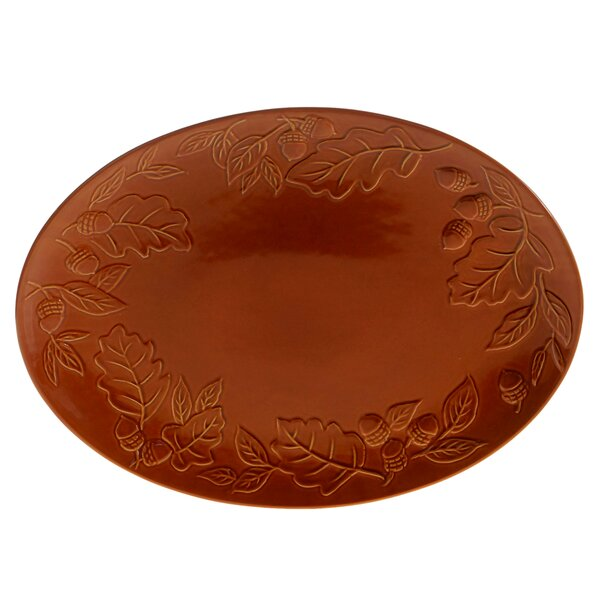 Layla Acorn Pumpkin Oval Platter by The Holiday Aisle