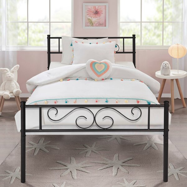 Semple Living Metal Platform Bed by Fleur De Lis Living