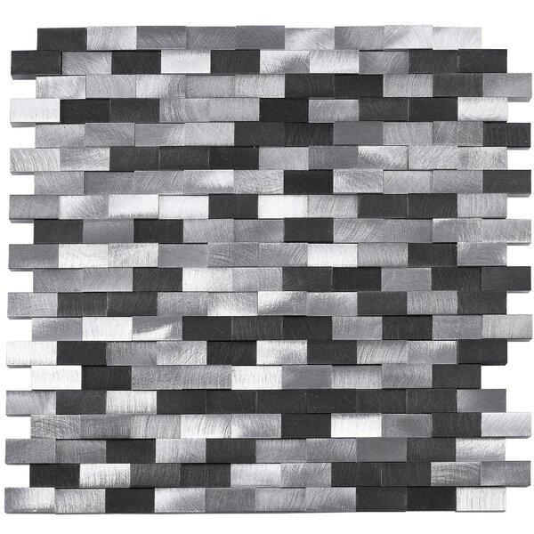 3 x 6 Metal Mosaic Tile in Gray by Multile