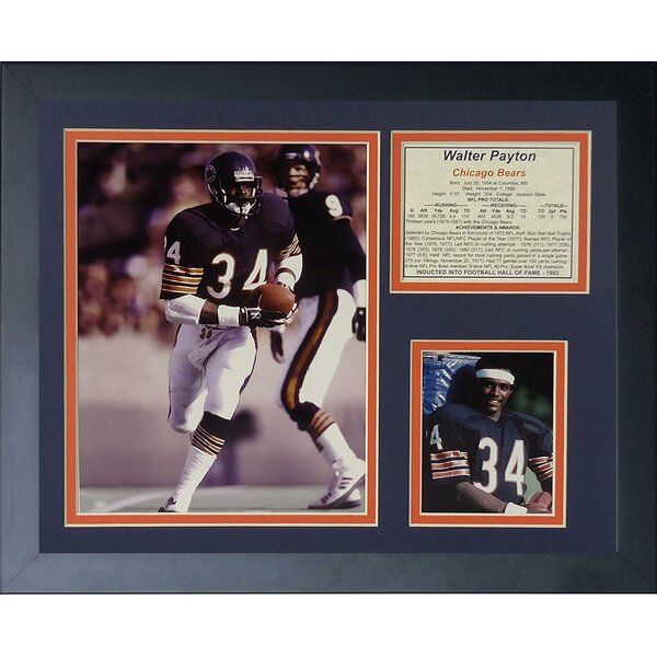 Walter Payton Home Framed Photographic Print by Legends Never Die