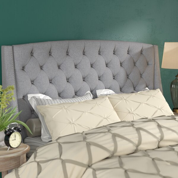 Chandeleur Upholstered Wingback Headboard By Three Posts by Three Posts Best #1